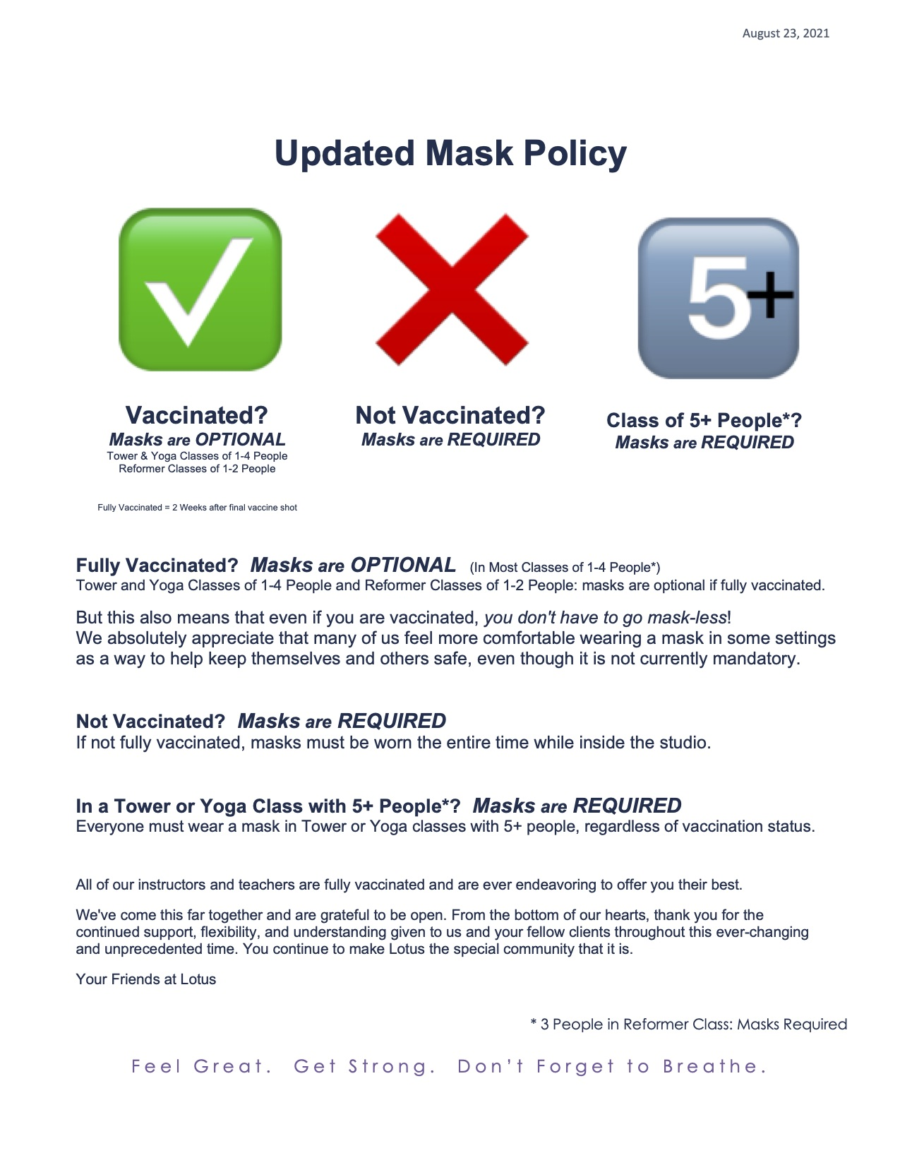 Updated Mask Policy_Aug 23 2021